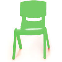 Kite Easy Stack Plastic Classroom Chair 30cm Green - Lightweight, Stackable & Easy To Clean, Ideal For Play-Schools, Pre-Schools, Junior Infants, Senior Infants, Home Use & More!