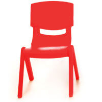 Kite Easy Stack Plastic Classroom Chair 30cm Red - Lightweight, Stackable & Easy To Clean, Ideal For Play-Schools, Pre-Schools, Junior Infants, Senior Infants, Home Use & More!