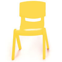Kite Easy Stack Plastic Classroom Chair 30cm Yellow - Lightweight, Stackable & Easy To Clean, Ideal For Play-Schools, Pre-Schools, Junior Infants, Senior Infants, Home Use & More!