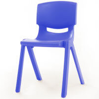 Kite Easy Stack Plastic Classroom Chair 40cm Blue - Lightweight, Stackable & Easy To Clean, Ideal For Play-Schools, Pre-Schools, Junior Infants, Senior Infants, Home Use & More!