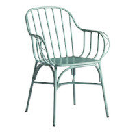 DENVER Arm Chair - Retro Light Blue - Aluminium - Rust Proof