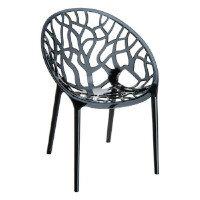 CRYSTAL Arm Chair - Black Transparent - Indoor & Outdoor - Polycarbonate - Scratch & UV Resistant