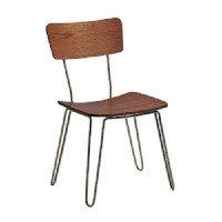 CLIP - Side Chair - Hairpin Style Legs - Oak Veneer Back & Seat