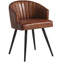 Brooklyn Tub Chair - Leather - Bruciato Tan