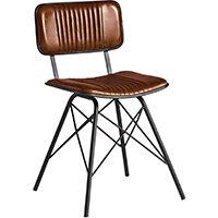 Duke Side Chair - Bruciato Leather