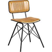 Duke Side Chair - Light Tan Leather
