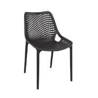 AIR Side Chair - Polypropylene - Stackable - Indoor & Outdoor - Black