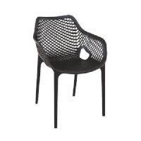 AIR Arm Chair - XL - Polypropylene - Stackable - Indoor & Outdoor - Black