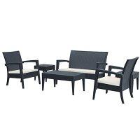 Miami 5 Piece Lounge Set - Dark Grey - Suitable for Indoor & Outdoor Use