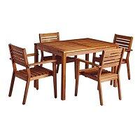 More Rectangular Dining Set - 4 x More Armchair - Rectangular Dining Table 750 x 1200mm