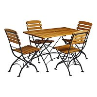 Arch Folding Rectangular Dining Set - Suitable for Indoor & Outdoor Use
