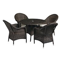 Clova Dining Set Brown - Suitable for Indoor & Outdoor Use