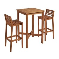 More Poseur Set - 2x Bar Stools - More Square Poseur Table 1100 x 700mm