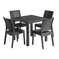 Florida Dining Set Black - Suitable for Indoor & Outdoor Use