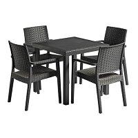 Ibiza Dining Set Dark Grey - Suitable for Indoor & Outdoor Use