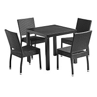 Stag Dining Set Black - Suitable for Indoor & Outdoor Use