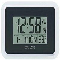 Acctim Avanti RC Desk Clock Silver/Black 74467