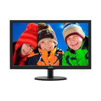 "Philips V-line 223V5LHSB - LED Computer Monitor - 21.5"" - 1920 x 1080 Full HD (1080p) - 250 cd/m² - 1000:1 - 5 ms - HDMI, VGA - textured black, black hairline"