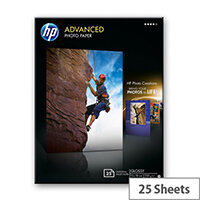 HP Advanced Glossy Photo Paper - Glossy - 130 x 180 mm 25 sheet(s) photo paper - for Envy 5055, 7645; Officejet 5255, 6000 E609; PageWide MFP 377; PageWide Pro 452