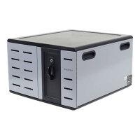 "Ergotron Zip12 Charging Desktop Cabinet - Cabinet unit for 12 tablets / notebooks - steel - black, silver - screen size: up to 14"""