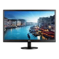 """AOC E2470SWH - LED Computer Monitor - 23.6"""" (23.6"""" viewable) - 1920 x 1080 Full HD (1080p) - TN - 250 cd/m² - 1000:1 - 1 ms - HDMI, DVI, VGA - speakers - black"""