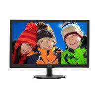 "Philips V-line 223V5LHSB2 - LED Computer Monitor - 22"" (21.5"" viewable) - 1920 x 1080 Full HD (1080p) - 200 cd/m² - 600:1 - 5 ms - HDMI, VGA - textured black, black hairline"
