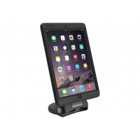 Compulocks Grip & Dock - Universal Secured Tablet Stand - HandHeld Grip and Dock - Stand for tablet - lockable - black - table-top