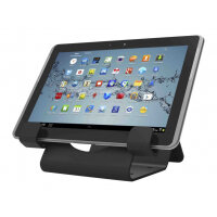 Compulocks Universal Tablet Holder - Keyed Cable Lock - Black - Secure table stand - black