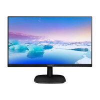 "Philips V-line 243V7QDAB - LED Computer Monitor - 24"" (23.8"" viewable) - 1920 x 1080 Full HD (1080p) - IPS - 250 cd/m² - 1000:1 - 5 ms - HDMI, DVI-D, VGA - speakers - textured black"