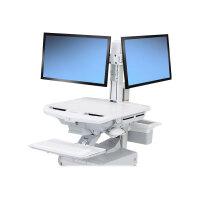 "Ergotron SV Dual Monitor Kit - Adjustable arm for 2 LCD displays - screen size: 24"" - cart mountable"