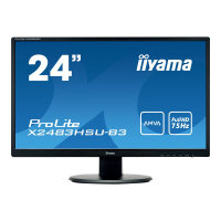 "Iiyama ProLite X2483HSU-B3 - LED Computer Monitor - 24"" (23.8"" viewable) - 1920 x 1080 Full HD (1080p) - A-MVA - 250 cd/m² - 3000:1 - 4 ms - HDMI, VGA, DisplayPort - speakers - black"