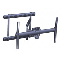 """Vogel's PFW 6852 - Mounting kit (full articulation swingout mount) for LCD / plasma panel - black - screen size: 37""""-68"""" - wall-mountable"""