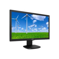 "Philips S-line 243S5LJMB - LED Computer Monitor - 24"" (23.6"" viewable) - 1920 x 1080 Full HD (1080p) - 1000:1 - 1 ms - HDMI, DVI-D, VGA, DisplayPort - speakers - black with hairline texture"