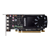 NVIDIA Quadro P1000 - Graphics card - 1 GPUs - Quadro P1000 - 4 GB GDDR5 - PCIe 3.0 x16 low profile - 4 x Mini DisplayPort - for Workstation Z240 (SFF, tower), Z4 G4, Z440, Z6 G4, Z8 G4