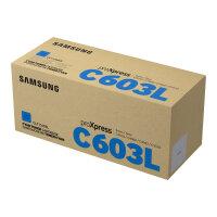 Samsung CLT-C603L - High Yield - cyan - original - toner cartridge (SU080A) - for ProXpress SL-C4010N, SL-C4010ND, SL-C4012ND, SL-C4060FX, SL-C4062FX