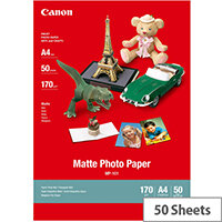 Canon MP-101 - Matte - A4 (210 x 297 mm) 50 sheet(s) photo paper - for PIXMA iP90, iX7000, MG8250, MP490, MP510, MP550, MP560, MP960, MX330, PRO-1, PRO-10, 100