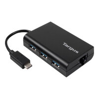 Targus - Hub - 3 x SuperSpeed USB 3.0 + 1 x 1000Base-T - desktop
