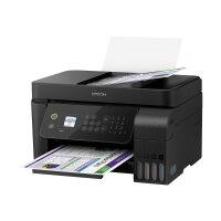Epson EcoTank ET-4700 - Multifunction printer - colour - ink-jet - A4/Legal (media) - up to 33 ppm (printing) - 100 sheets - 33.6 Kbps - USB, LAN, Wi-Fi - black