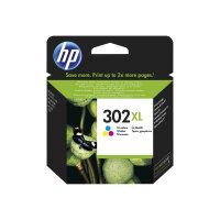 HP 302XL - 8 ml - High Yield - dye-based tricolour - original - ink cartridge - for Deskjet 11XX, 21XX, 36XX; Envy 45XX; Officejet 38XX, 46XX, 52XX