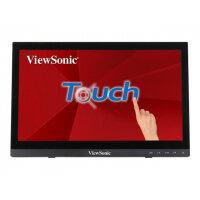 "ViewSonic - LED monitor - 16"" (15.6"" viewable) - touchscreen - 1366 x 768 - TN - 190 cd/m² - 500:1 - 12 ms - HDMI, VGA - speakers"