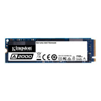 Kingston A2000 - Solid state drive - encrypted - 500 GB - internal - M.2 2280 - PCI Express 3.0 x4 (NVMe) - 256-bit AES