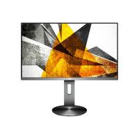 """AOC U2790PQU - 90P Series - LED monitor - 27"""" - 3840 x 2160 4K UHD (2160p) - IPS - 350 cd/m² - 1000:1 - 5 ms - 2xHDMI, DisplayPort - speakers - black & titanium"""