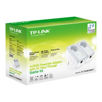 TP-Link TL-PA4010PKIT AV500+ Powerline Kit with AC Pass Through - Bridge - HomePlug AV (HPAV) - wall-pluggable (pack of 2)