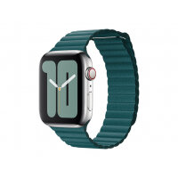 Apple 44mm Leather Loop - Strap for smart watch - Medium size - peacock - for Watch (42 mm, 44 mm)