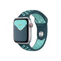 Apple 44mm Nike Sport Band - Strap for smart watch - Regular size - aurora green, midnight turquoise - for Watch (42 mm, 44 mm)