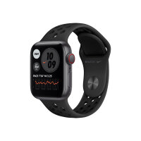 Apple Watch Nike SE (GPS + Cellular) - 40 mm - space grey aluminium - smart watch with Nike sport band - fluoroelastomer - anthracite/black - band size 130-200 mm - S/M/L - 32 GB - Wi-Fi, Bluetooth - 4G - 30.68 g