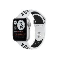 Apple Watch Nike Series 6 (GPS) - 40 mm - silver aluminium - smart watch with Nike sport band - fluoroelastomer - pure platinum/black - band size 130-200 mm - S/M/L - 32 GB - Wi-Fi, Bluetooth - 30.5 g