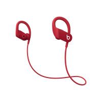 Beats Powerbeats High-Performance - Earphones with mic - in-ear - over-the-ear mount - Bluetooth - wireless - noise isolating - red - for iPad/iPhone/iPod/TV/Watch