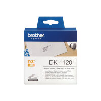 Brother DK-11201 - Black on white - 29 x 90 mm 400 label(s) (1 roll(s) x 400) address labels - for Brother QL-1050, 1060, 500, 550, 560, 570, 580, 600, 650, 700, 710, 720, 820