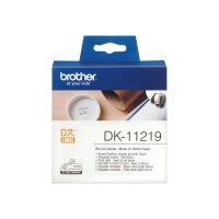 Brother DK-11219 - Black on white - Roll (1.2 cm) 1200 pcs. (1 roll(s) x 1200) labels - for Brother QL-1050, QL-1060, QL-500, QL-550, QL-560, QL-570, QL-580, QL-650, QL-700, QL-720